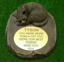 cat Large Pet Memorial/headstone/stone/grave marker/memorial with plaque ag12
