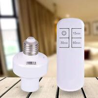 Remote Control Light Socket E26/E27 Screw Wireless Holder Bulb Cap Smart Switch