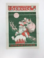 1940 Public Service Company of Colorado Pamphlet Santa Advertising Paper Doll
