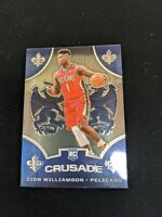 2019-20 Panini Chronicles Zion Williamson RC #529 CRUSADE Rookie Pelicans