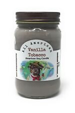 Vanilla Tobacco - Pure Soy Candle - Hand Poured In Mason Jar - SHIPS FREE