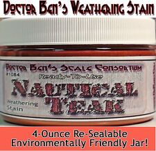 Nautical Teak Weathering Stain-4oz Doctor Ben's Scale Consortium Craftsman Scale