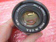 """BELL & HOWELL PROJECTION LENS PROJECTION 16MM 2"""" F/1.6 MADE IN USA"""