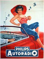 Phillips Autoradio, Retro Letrero De Metal, Novedad Regalo, Garaje