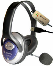 USB STEREO HEADPHONES WITH BOOM MICROPHONE