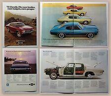 Original publicitaire prospectus brochure CHEVROLET CHEVELLE 1972 automobile Oldtimer xz