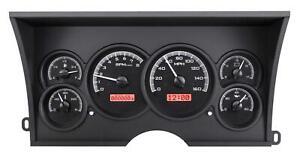 Dakota Digital 88-94 Chevy GMC Truck Direct Fit Gauges Black/Red VHX-88C-PU-K-R