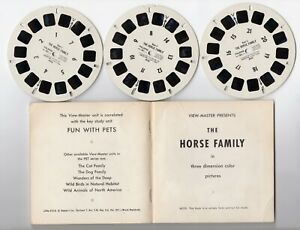 The HORSE Family 1957 Unreleased RARE View-Master Packet With Reels 882-ABC