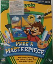 Crayola: Make a Masterpiece (Windows/Mac CD-ROM, 1998) Factory Sealed Big Box