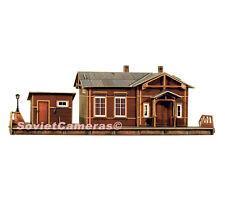 1/87 HO Scale Building Whistle-stop Station HALT Railway Cardboard Model Kit