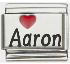Clearly Charming Aaron Laser Name Italian Charm Link