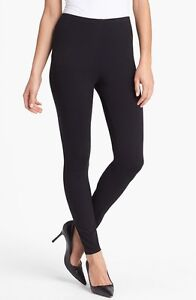 New Eileen Fisher Black Viscose Stretch Ankle Leggings Size XL Retail $98