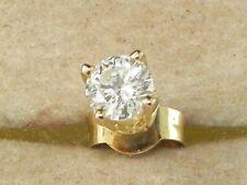 14k Yellow Gold .585 Diamond-.23 tcw Fine Solitaire Single Stud Earring