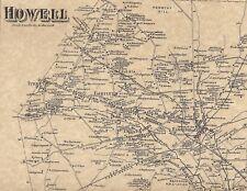 Howell Farmingdale Adelphia Jerseyville NJ 1873 Maps with Homeowners Names Shown