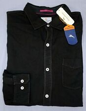 NWT Tommy Bahama Long Sleeve Black Shirt Mens XLT 2XB 3XB 3XT Button Down