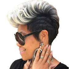Hot Women Short Blone Ombre Wavy Wig Fashion Curly Synthetic Hair Full Head Wigs