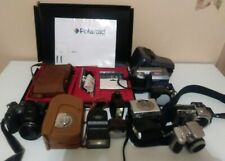 Lot Of Vintage And Digital Cameras And Assesories For Parts & Repair