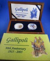 2005 GALLIPOLI 90th ANNIVERSARY WW1 Silver Proof Set