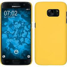 Hardcase Samsung Galaxy S7 rubberized yellow Cover + protective foils