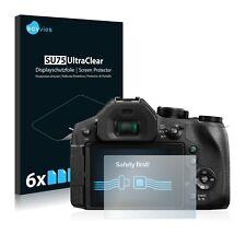 6x Displayschutzfolie Panasonic Lumix DMC-FZ300 Schutzfolie Klar Folie