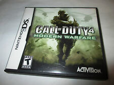 Call of Duty 4 Modern Warfare (Nintendo DS) Lite DSi XL 3DS 2DS w/Case & Manual