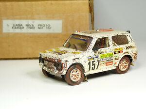 Gaffe 1/43 VAZ 2121 Lada Niva Dakar Rally 1983 Resin Handmade Model Car Kit