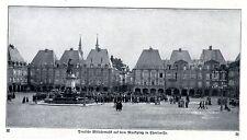 Deusche Militärmusik auf dem Marktplatz in Charleville Historische Aufnahme 1915