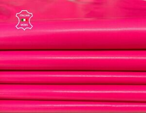 ROSE BONBON NEON PINK lambskin leather pack 2 skins total 12sqf 0.6mm #A8526