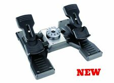 Flight Simulator Rudder Pedals PC Gamer Plain Controller Joystick Foot Rest USB
