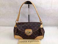 "Auth Louis Vuitton Monogram Beverly MM Shoulder Hand Bag 5i150190p"""