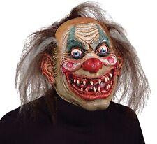 Scary Clown Mask Carnival Drifter Evil Grin Creepy Full Over Head Latex