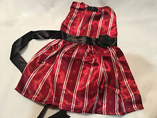 """Fits 15"""" 16"""" Baby Alive Doll Clothes Red Dress Gown Satin Rosette NEW"""