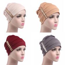 Donne Cappello di Cotone Cancro Chemio Berretto Largo Turbante Hijab Scialle 164d587f2e86