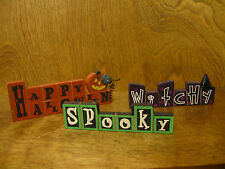HALLOWEEN SIGNS #44858B WITCHY; SPOOKY; HAPPY HALLOWEEN, NEW from Retail Store