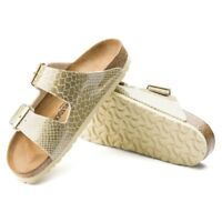 Birkenstock ARIZONA 1011765 (Narrow) Ladies Two Strap Sandals Magic Snake Gold