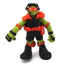 """4"""" Rare Teenage Mutant Ninja Turtles MICHAELANGELO FIGURE Orange outfit"""