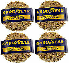4 Pack Good Year Super Dry Natural Drying Chamois Ball Window Cleaning Defogging