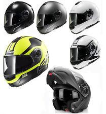 LS2 Helmet Motorbike Modular Ff325 Strobe Solid White M