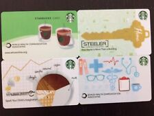 Lot Of 4 Different Starbucks Co Branded  Corporate Gift Cards.