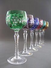Sechs hochwertige, elegante, farbige Kristall Weingläser - von Nachtmann