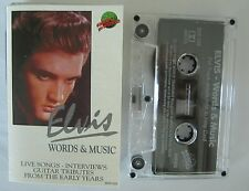 ELVIS PRESLEY WORDS & MUSIC AUSTRALIAN RELEASE CASSETTE TAPE