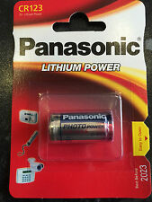 3 Stück Panasonic Batterie CR 123 au lithium extra puissance 3V - Top CR123