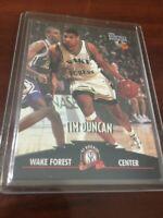 TIM DUNCAN 1997 SCORE BOARD #1 DRAFT ROOKIE CARD RC FUTURE NBA HOF WAKE FOREST