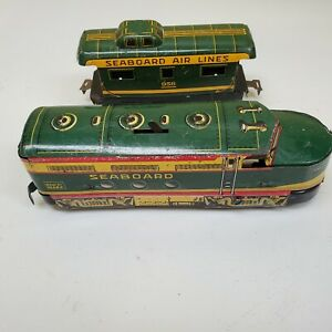 MARX Seaboard Diesel Engine And Caboose.  .99 NO RESERVE!