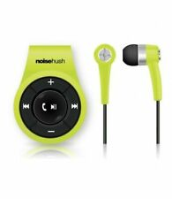 NEW NOISEHUSH NS560 LIME CLIP-ON BLUETOOTH WIRELESS HEADSET-In-Ear Only
