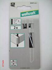 Stichsägeblätter U- Schaft HCS f.Holz Länge 91,5 mm wolfcraft 10 Stück