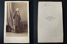 Disdéri, Paris, Le politicien Adolphe Billault Vintage cdv albumen print CDV,
