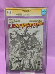 Justice League #1 CGC 9.6 SS Signed by Jim Lee Sketch Cover