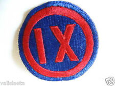 PATCH US ARMY 9th CORPS 2ème GM ? WW2 US BADGE ?