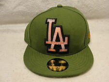 L.A Dodgers Green cap/hat New Era 7 1/4 logo is red with pop up black and white.